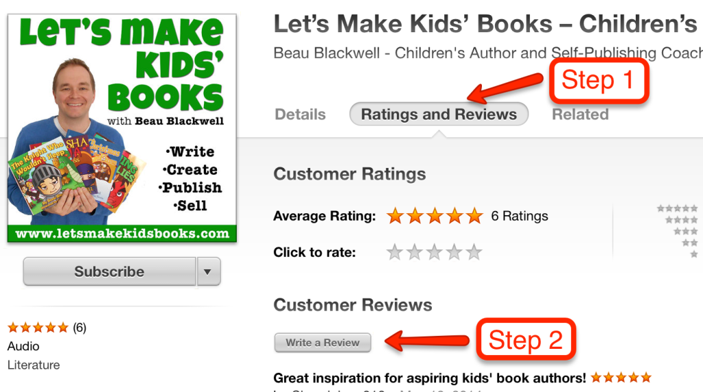 Leave a review on itunes Step 4