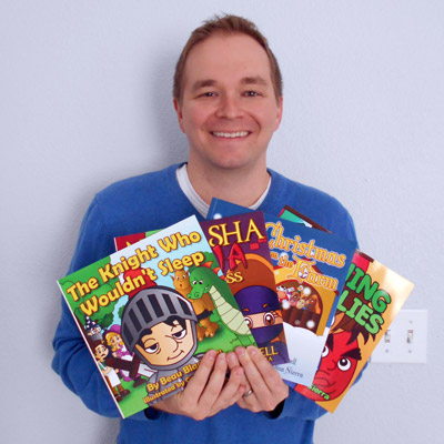 Beau Blackwell with children's books